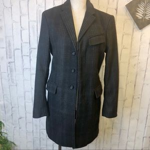 Banana Republic plaid wool blend jacket. Small